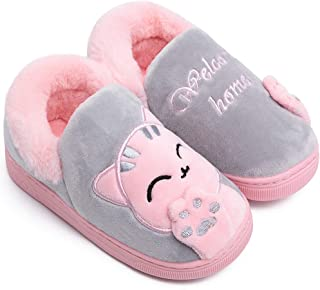 Toddler Boys Girls Warm House Slippers Little Kids Winter Indoor Home Shoes Comfy Cute Animal Fluffy Slippers