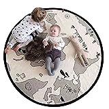 Blanketswarm Alfombra de juego con mapa del mundo, de lona fina, suave, para bebés,...