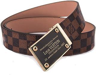 2b81c0996bdc Fashion Belt Brown Belt with Square Golden belt buckle(115CM)