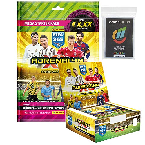Adrenalyn XL FIFA 365 2021 - 1 Starter + 1 Display (24 Booster) + 40 Collect-it Hüllen Sleeves