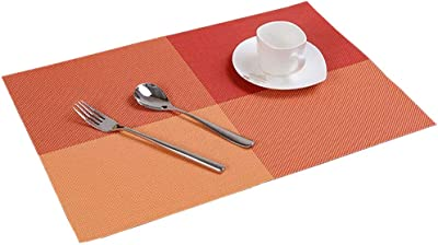Amazon.com: DHmart Placemat Table mat Continental Waterproof Non ...