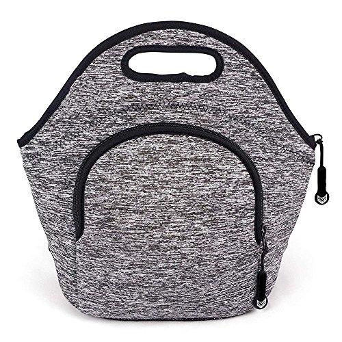 Quality Super Green Waterproof Neoprene Handbag Lunch Bag Blue Grey Reusable Handbag Man and Lady Student Best Choice