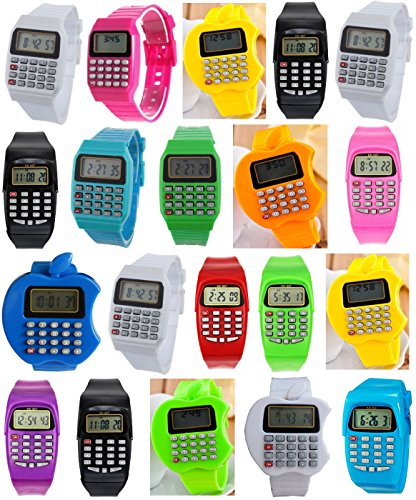 Pappi Haunt Pack of 20 Colorful Calculater Wrist Watch for Kids