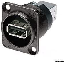 Neutrik NAUSB-W-B Panel Mount Reversible USB GenderChanger Type AB Black Adapter