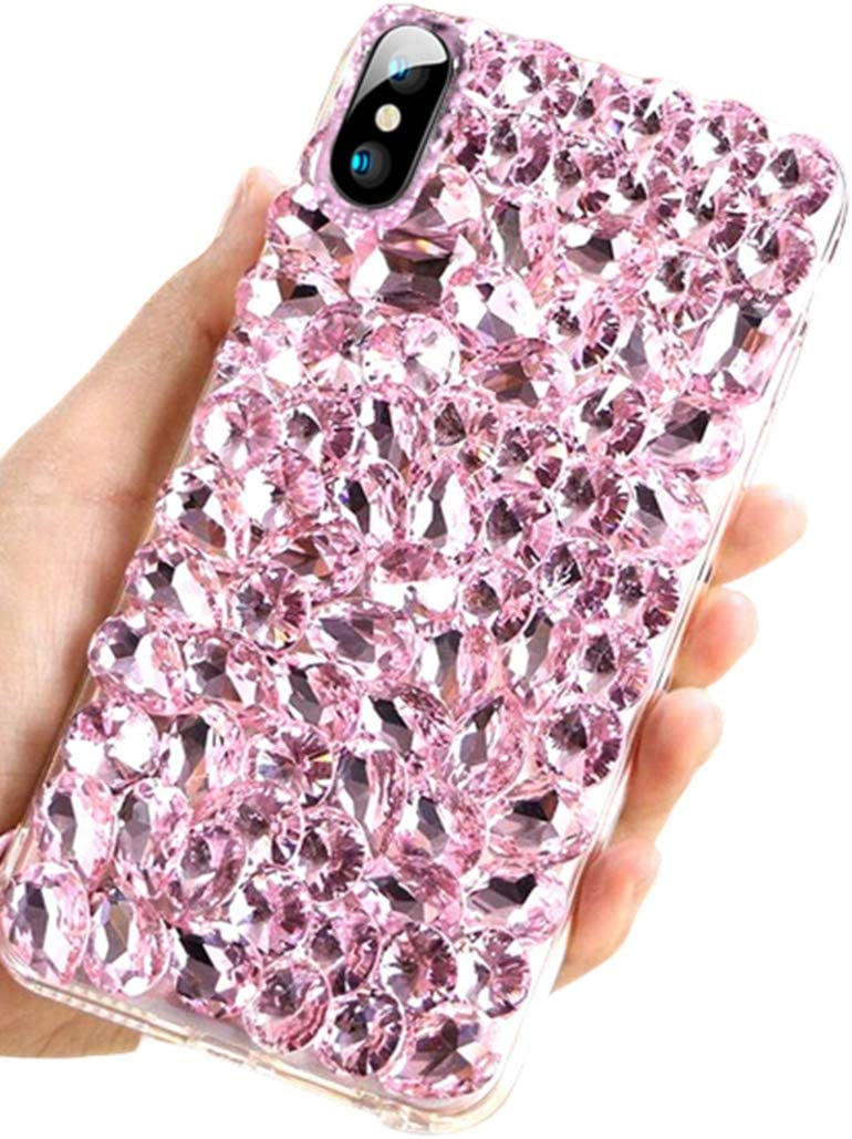 Lozeguyc Case for Samsung Galaxy Note 10,Samsung Note 10 Stylish Pretty Bling Beauty TPU Case Slim Hybrid Shockproof Bumper Raised Edge Cover for Galaxy Note 10 for Girls Women-Pink