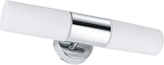Paulmann 发光70350 A + + to E, 镜子灯 Lenia IP44*2 x 40 W, 金属, E14, 铬不透明, 33 x 10.5 x 8厘米