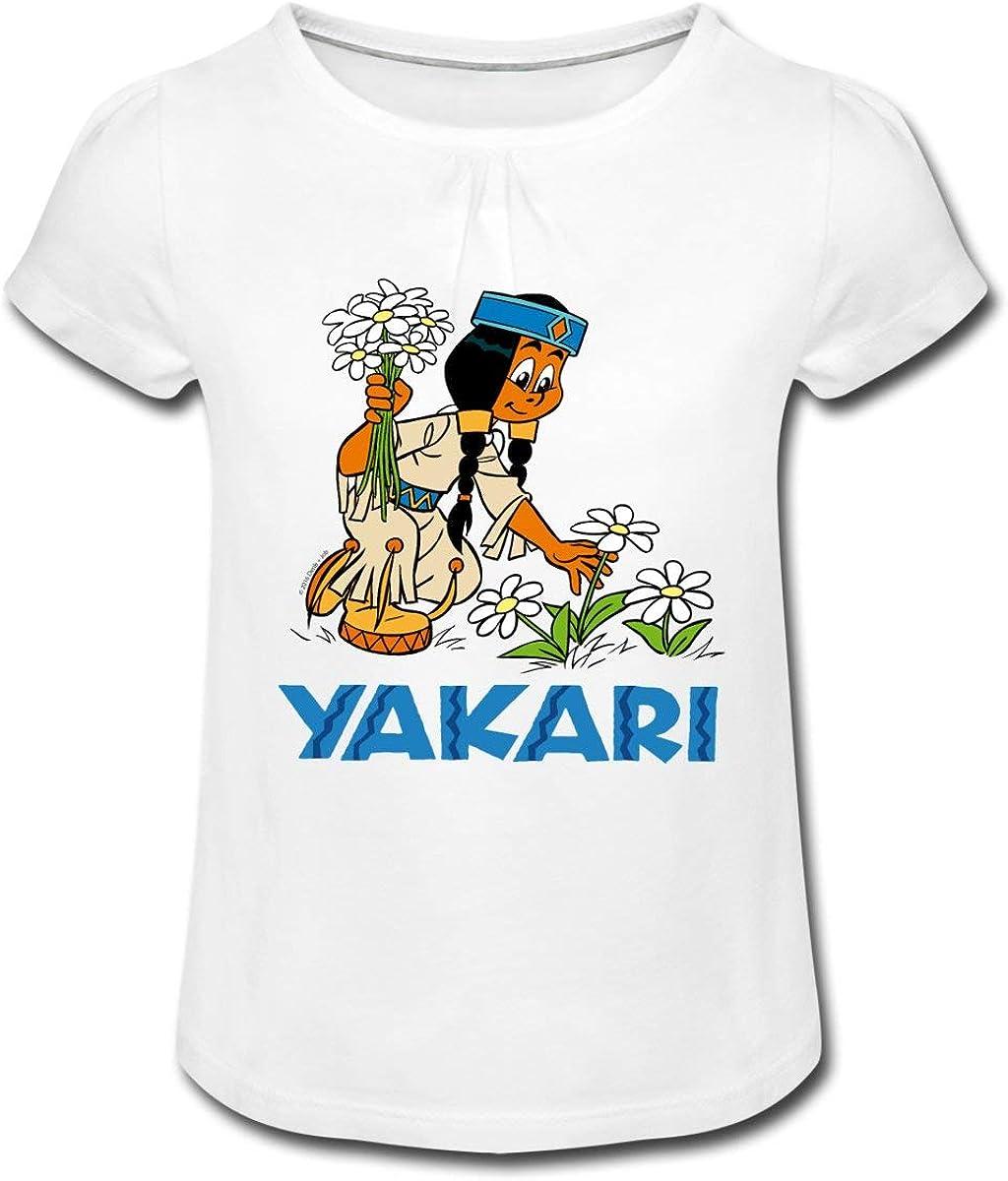 Yakari Arc-en-Ciel Cueille des Fleurs T-Shirt /à Fronces Fille