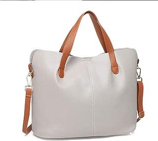 Loosnow Women 2 in 1 PU Leather Shopper Tote Bag Large Shoulder Bags Crossbody Bag