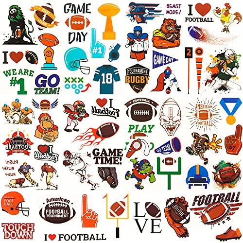 American Football Tattoos, Rugby Temporäre Tattoos für Kinder Kinder Männer Geburtstag Party Supplies Favors Party Taschen Party Festival