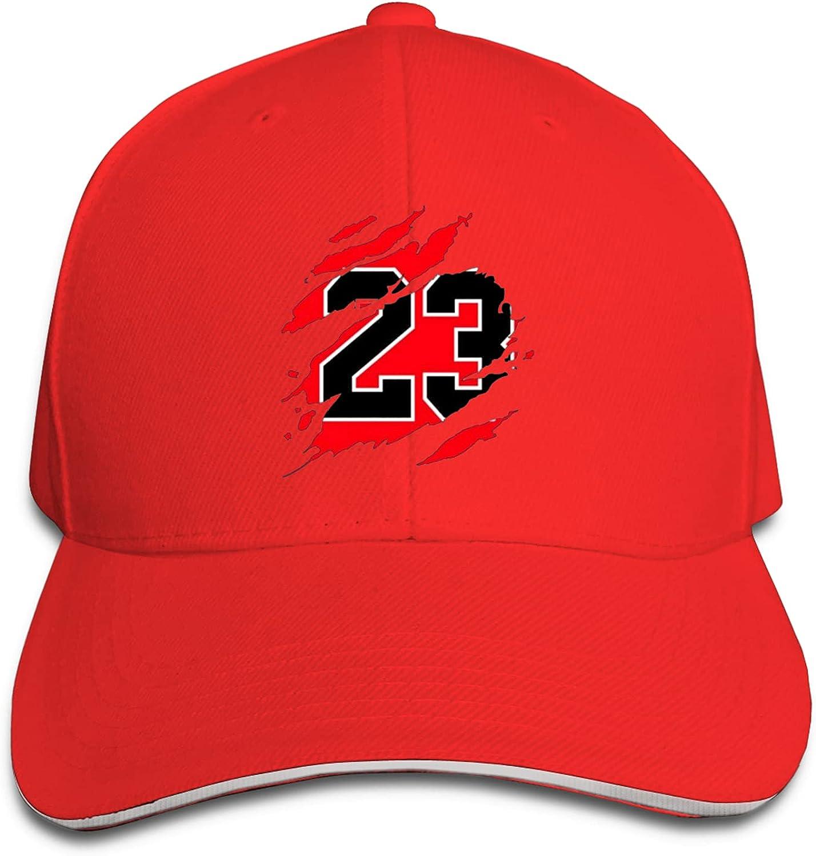 Jordan Basketball 23 Michael Unisex Sandwich Baseball Cap Adjustable Snapback Hat Outdoor Hat