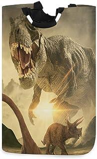 N\A Panier à Linge Animal Dinosaure Panier à Linge Dinosaure Vintage Boîte de Rangement Grand Rangement étanche Facile à T...