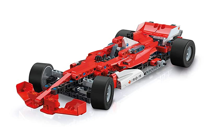 Clementoni Technologic Mechanics Laboratory, Racing Cars Assembly Kit, 50 Model Configurations, Ages 8 and Up