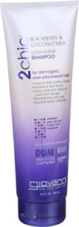 Giovanni Hair Care Products Shampoo - 2chic - Ultra Repair - Blackberry and Coconut Milk - 8.5 oz (Pack of 3)