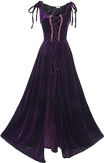 Womens Renaissance Irish Overdress Medieval Over Dress Pirate Costume