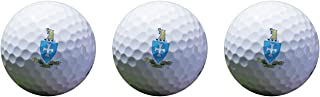 Desert Cactus Sigma Chi Color Printed Unique Golf Balls (Set of 3) Licensed Product Sig Chi (Crest Golf Balls)