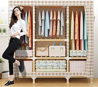 Garde-robe portable - Organisateur de rangement pour placard à vêtements et Armoire debout en tissu Oxford avec support su...