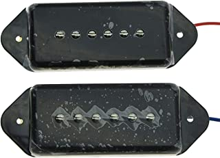 Black P90 High Power Sound Neck Bridge Dogear Pickup Soapbar Pickups Set