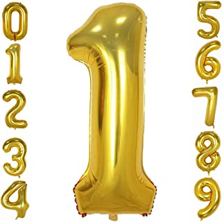 Best balloon gold numbers Reviews