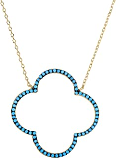 Best van cleef and arpels turquoise clover necklace Reviews