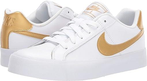 White/Metallic Gold
