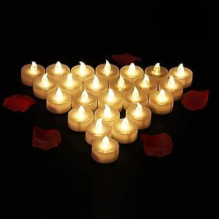 comprar comparacion 24 Velas LED Sin Fuego - Glamouric Velas Electrónicas con Baterías Incorporadas Perfectas para San Valentín, Cumpleaños, F...