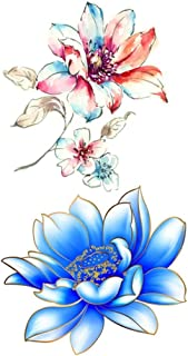 Flowers Tattoos Waterproof Body Temporary Tattoos Sticker Removable