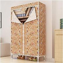 Wardrobe Storage Cabinet Simple Wardrobe Bedroom Oxford Cloth Portable Wardrobe 25MM Steel Tube Bold Steel Frame Clothing ...