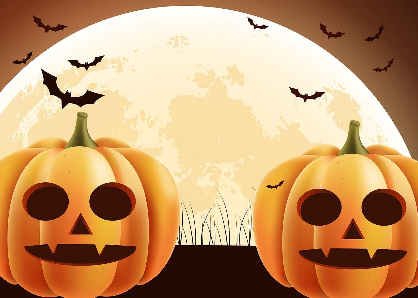 10x6.5ft Halloween Pumpkin Photography Backdrop Background Photo Shooting Props DSFU085