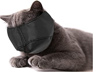 Xbes Nylon Cat Muzzles,Cat Face Mask,Groomer Helpers,Cat Grooming Tools,Preventing Scratches and Anti-Biting,Black