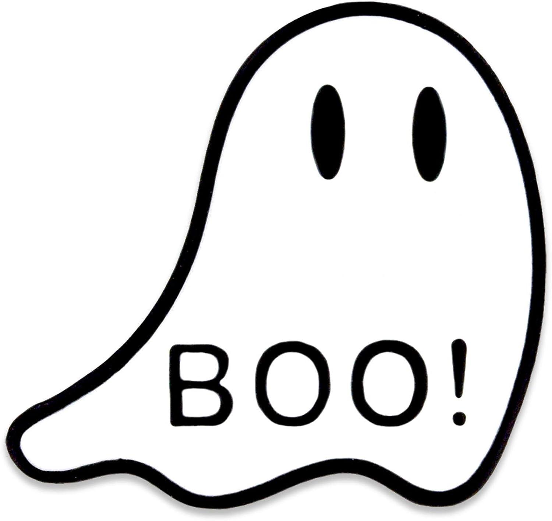 PinMart Glow in The Dark Ghost Halloween Boo Spooky Enamel Lapel Pin