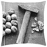 LESGAULEST Throw Pillow Cover (24x24 inch) - Nutcracker Hammer Nutshell Diet Health Macro