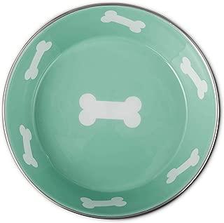 HARMONY Teal Enameled Stainless Steel Dog Bowl