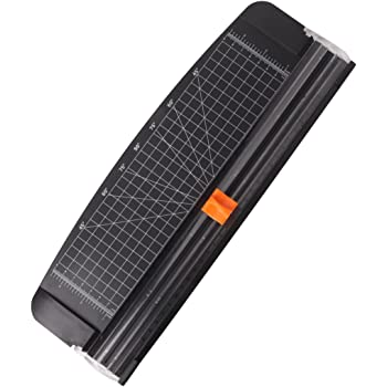 Jielisi 12 inch Paper Trimmer, A4 Size Paper Cutter with Automatic Security Safeguard for Coupon, Craft Paper and Photo (Black)