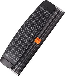 Jielisi Guillotina Cortador de Papel 12 inch A4 de Titanio con Automático de Seguridad Salvaguardar y Slide Regla Diseño para Cupón Craft etiqueta de Papel o foto, Negro