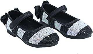 Hopscotch FEETWELL Shoes Girls Synthetic Shimmering Ballerinas Mary Jane in Black Color, UK:6 (FWS-3198364)