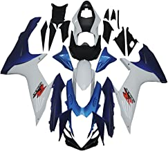 NT FAIRING White Blue Injection Mold Fairing kits Fit for Suzuki 2011-2015 GSXR 600 750 K11 GSX-R600 2012 2013 2014 2015 Aftermarket Painted ABS Plastic Set Motorcycle Bodywork