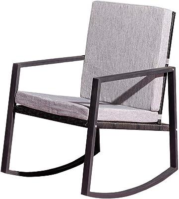 Super Amazon Com Amazonbasics Foldable Rocking Chair Black Machost Co Dining Chair Design Ideas Machostcouk