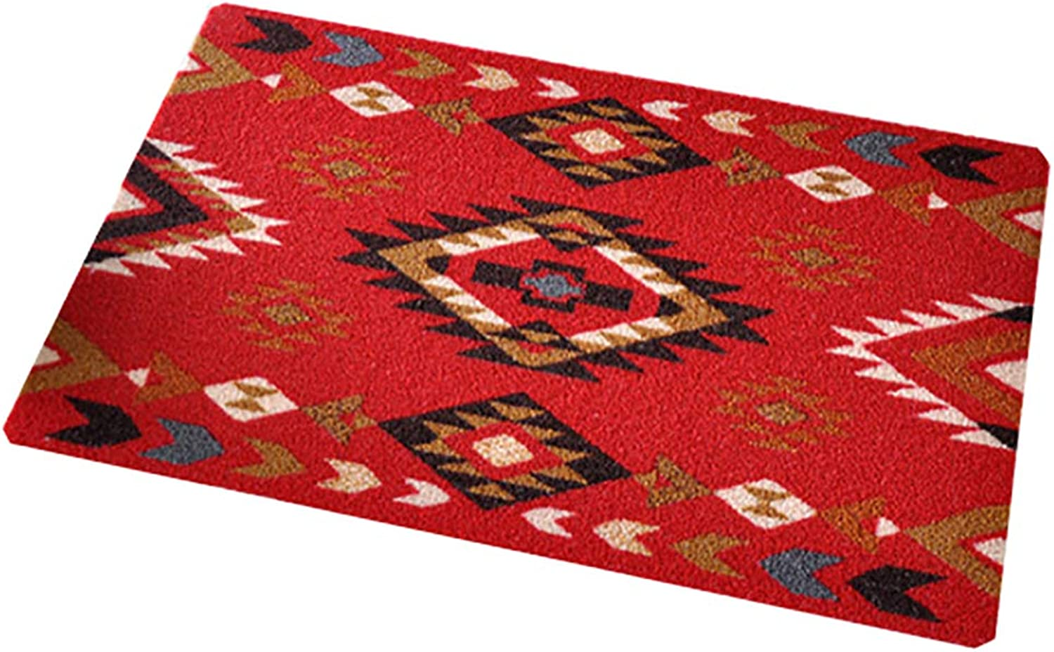 Door mat,Front Entrance Door mat Rug Entrance Door mats Front Door Rug for Indoor Outdoor-red 60x98cm(24x39inch)