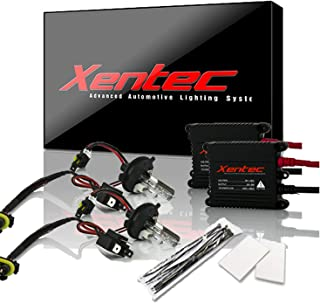 Xentec H4 (HB2) 6000K Hi/Lo HID xenon bulb x 1 pair bundle with 2 x 35W Digital Slim Ballast (Ultra White, high beam halogen)