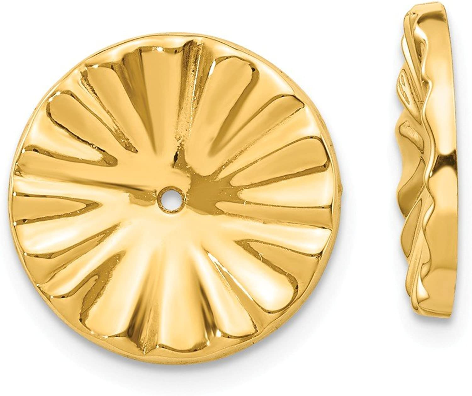 Beautiful Yellow gold 14K Yellowgold 14k Polished Sunburst Earring Jackets