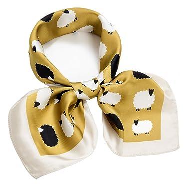 27 inch Silk Feeling Scarf Square Satin Head Scarf Fashion Neck Scarfs for Women