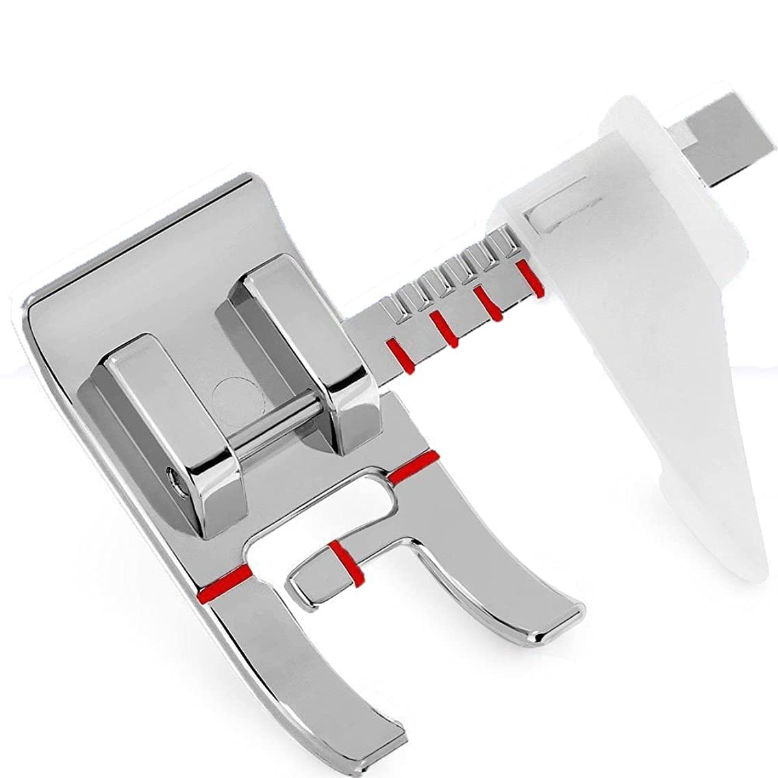 E-SideStep Adjustable Guide Sewing Machine Presser Foot .Fits All Low Shank Snap-On Singer, Brother, Babylock, Euro-Pro, Janome, Kenmore, White, Juki, New Home, Simplicity, Elna and MoreElna and More