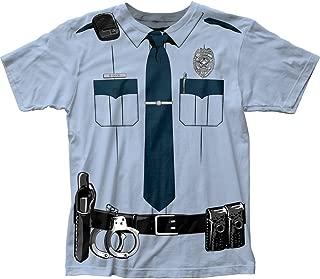 Johnny Law Men's Cop Uniform Slim-Fit T-Shirt Light Blue