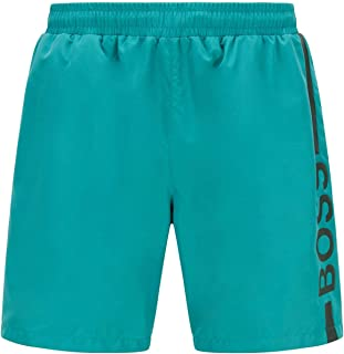 BOSS Womens Dolphin Quick-Dry Logo Swim Shorts in Recycled Fabric