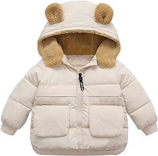 Ommda Chłopiec dziewczęta sztuczne futro wyściełane z kapturem puszysty wyściełany płaszcz odzież wierzchnia dziecięca kur...