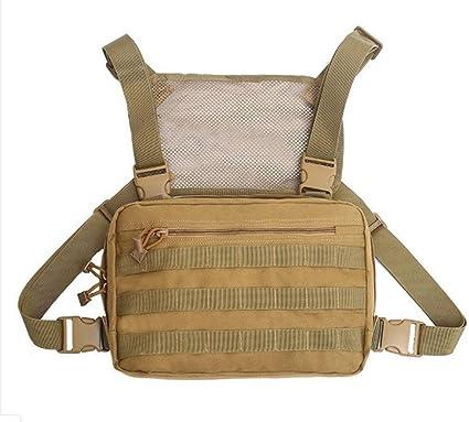 Militarische Taktische Mode Chest Rig Bag Einstellbare Hip Hop Rucksack Abnehmbare Molle Werkzeugtasche Multifunktionale Umhangetasche Tactical Vest Bag Amazon De Sport Freizeit