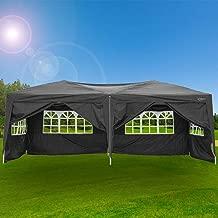 VINGLI 10X20 Feet Pop Up Canopy,Instant Tent,6 Removable Sidewalls,Folding EZ Up Canopy Tent,Patio Event Gazebo Beach Tent,UV Coated&Waterproof, Bonus Wheeled Carry Bag