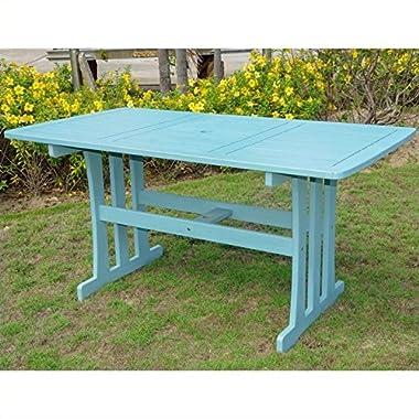 International Caravan TT-RE-07-SKB-IC Furniture Piece Acacia Rectangular Dining Table