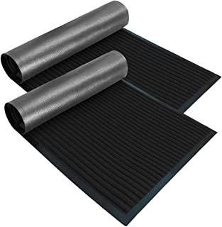 Gorilla Grip Original Low Profile Rubber Door Mat, 35x23, Pack of 2, Durable Doormat for Indoor and Outdoor, Waterproof, E...