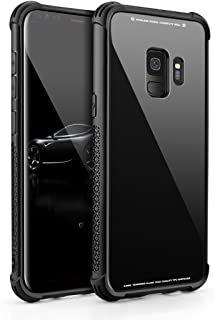 Aitour Samsung Galaxy S9 Case, Tempered Glass Back Cover and Soft Silicone Bumper Frame Shock Anti-Scratch Wireless Charging Compatible Galaxy S9, Kkv47